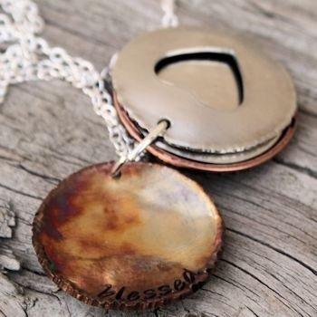 Family Heart Framed Necklace
