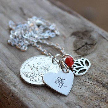 Mandarin Love Coin Necklace