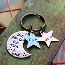 To the moon & back keychain