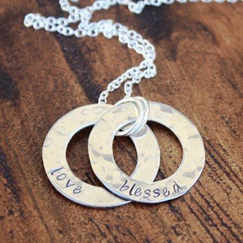 Dual Washer Necklace