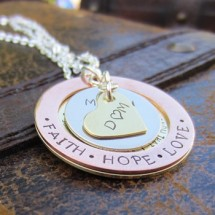 Faith Washer Necklace
