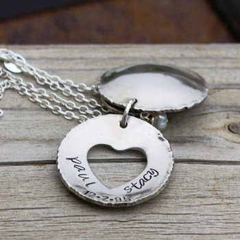 Family Heart Cupped Necklace