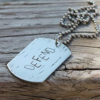 Defend Dog tag