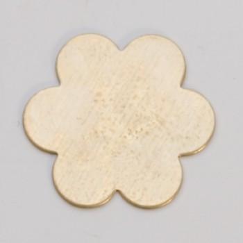 """7/8"""" Brass 6 petal flower"""
