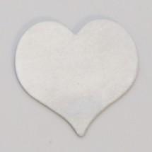 """7/8"""" NickelSilver Heart"""