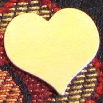 """7/8"""" Brass Heart"""