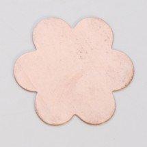 """7/8"""" Copper 6 petal flower"""