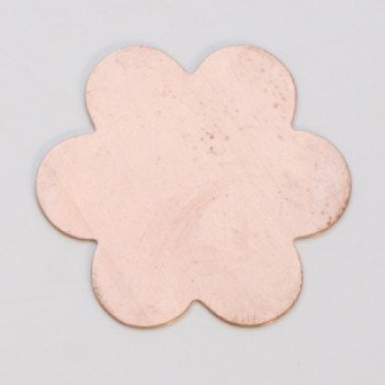 "7/8"" Copper 6 petal flower"